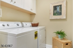 With built-in cabinets & tile floor