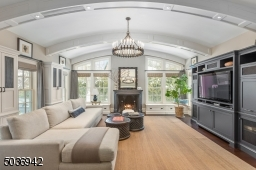 well crafted & thought out family room with high ceiling & meticulous craftsmanship