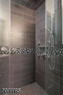 Tiled Shower, Glass Doors