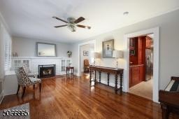 Fireplace, BI Cabinets, Wood Floors
