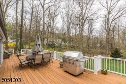 Deck is the full length of the first floor with access from every room.