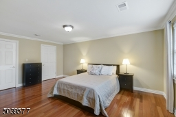 Roomy Master Bedroom with twin closets