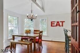BRIGHT AND CHEERY BREAKFAST OPENS TO FAMILY ROOM