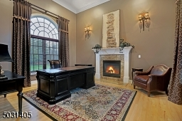 Beautiful room with gas fireplace - It would be a pleasure to work from home in this space