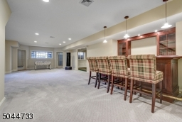 Built-in bar and walk out basement to backyard