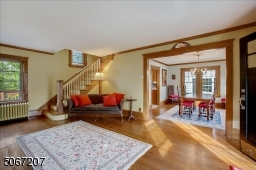 Hardwood floors throughout.  Living room opens up to formal dining area.