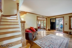 Beautiful natural wood molding throughout first floor