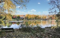 Community between sparkling lakes and blossoming tall trees, Enjoy Trails in Watchung Reservation