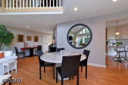 Dining area off the kitchen and part of the living room makes it a great place to entertain