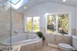 Light, bright master bathroom