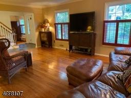 Living room with hardwood floor