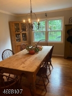 Large Dining Room with hardwood floors