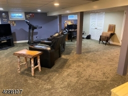 Finished full basement with storage room