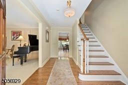 From the front porch, you will enter into the foyer which will lead you to all the main living areas of the home.