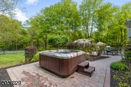 Paver patio with hot tub included.
