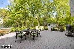 A expansive paver patio