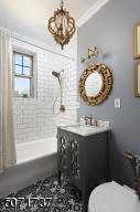 update bath with big linen closet