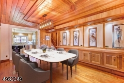 Intimate dinners or large festive gatherings, this dining room with custom cabinetry is sure to please. Virtually Staged.