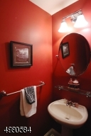 This first floor powder room is a convenient addition to the two full baths on the second floor.