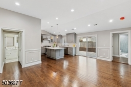 Eat in kitchen with laundry room to the left by half bath
