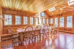 Sundrenched room with access to the backyard is a perfect place for whatever group activity you choose.  Gather for a meal, for sewing, or for arts and crafts, you will find that this room is so versatile!