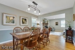 Sharing a meal with those you love in this bright and open dining room makes the gathering merrier!