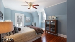 Lovely Master Bedroom with private bath and French door to outdoor terrace.