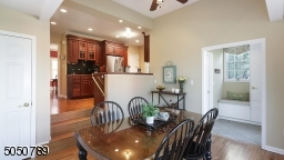 Breakfast room with view to kitchen, mudroom & powder room
