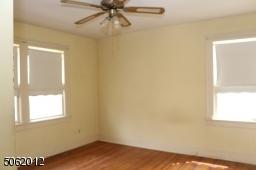 BR #1 has windows on 2 sides; hardwood floors; ceiling fan