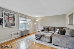 Double windows fill the room with natural light and the wall air conditioner is newer.