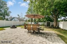 Large paver patio