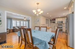 Easy flow from Living Room to Dining Room