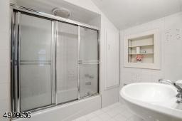 second level main bathroom, shower over tub
