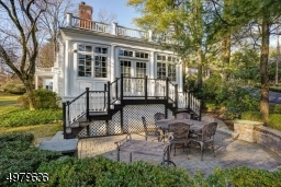 bridal staircase, paver patio, entertain in style