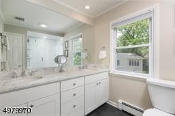 Enjoy the updated, spa-like master bathroom.