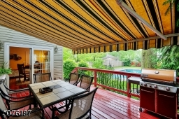 Dine outside anytime under Awning