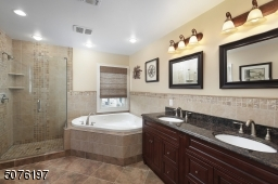 Private Master Bathroom Double Sinks, Separate Shower and Separate Tub