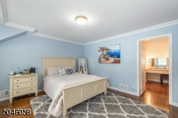 Bursting with natural light, each of the four gracious second floor bedrooms offers a soothing color palette, gleaming hardwood floors and plenty of storage spaces.
