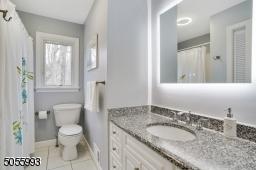 Granite countertop,  Smart lighting, no-fog mirror, wireless music
