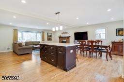 Kitchen, Dining Room & Living Room