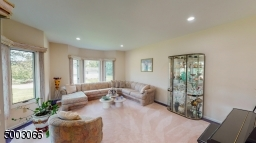 Formal Living Room with 2 Bay Windows