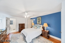 The master bedroom has 2 closets and an en-suite bathroom with a stall shower.