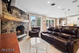 So cozy with over sized wood burning fireplace. Radiant heated floors throughout entire house