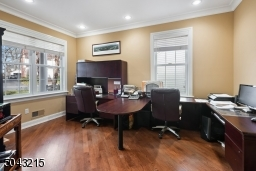 Large, dedicated office space with french doors