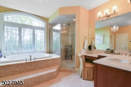 Large Walk in shower with rain head fixtures